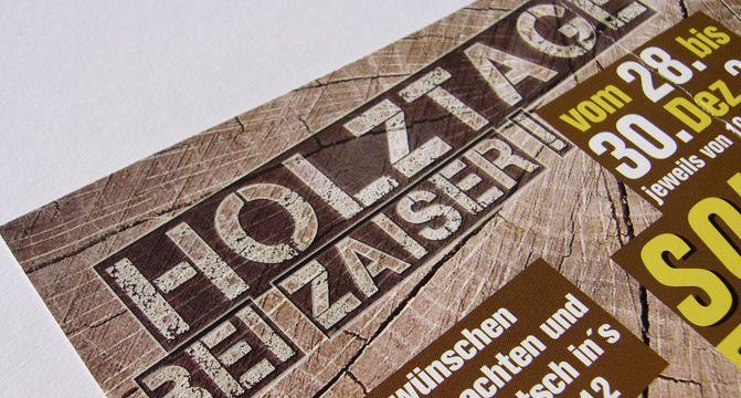 Printprodukt: Holztage Flyer